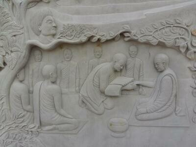 Stone%20carving life%20of%20ajahn%20chah